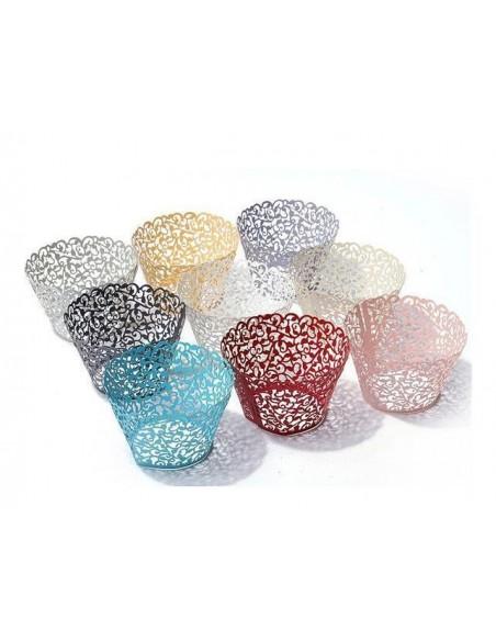 Pack 12 wrappers elegantes marfil perlado