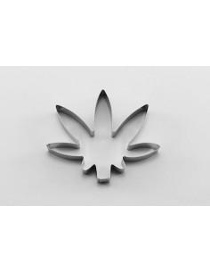 Cortador metálico hoja marihuana