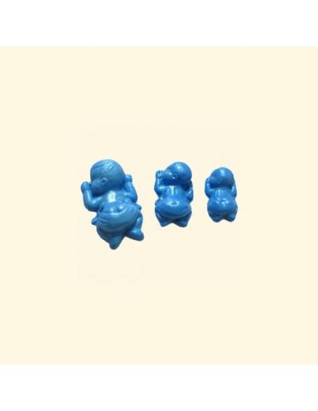 Molde de silicona tres bebés