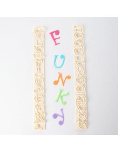 Cortadores letras y números estilo funky