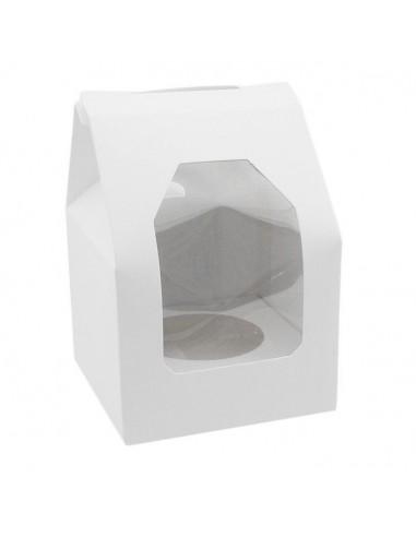Caja 1 Cupcake Blanca Ventana Lateral