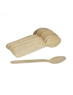 Cucharas de madera lisas