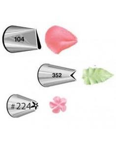 Set Boquillas nº104 Pétalo nº352 Hoja y nº224 Flor