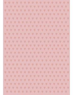 Papel de azúcar corazones rosas Nº16
