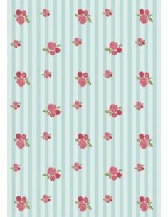 Papel de azúcar flores Nº24