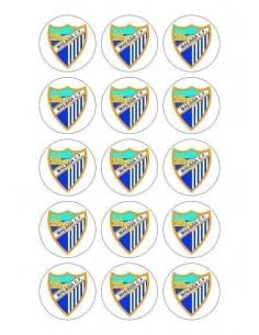 Papel de azúcar escudo Málaga para galletas