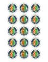 Papel de azúcar escudo Getafe para galletas Nº72