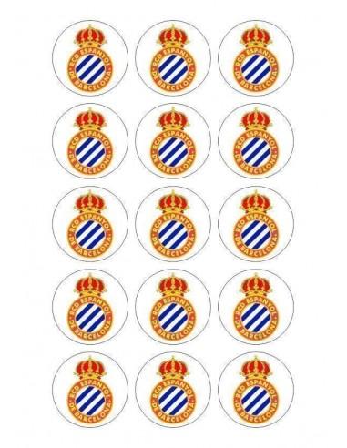 Papel de azúcar escudo Espanyol para galletas Nº73