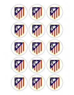 Papel de azúcar escudo Atlético de Madrid para galletas