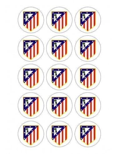 Papel de azúcar escudo Atlético de Madrid para galletas Nº75