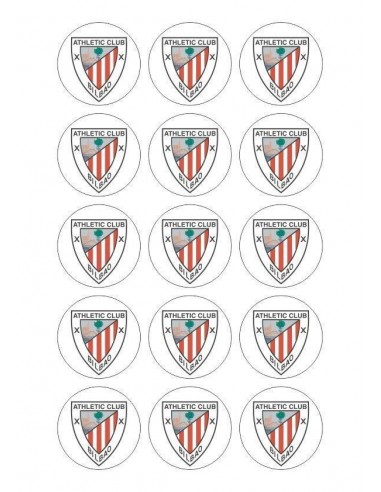 Papel de azúcar escudo Athletic de Bilbao para galletas Nº76