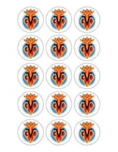 Papel de azúcar escudo Villarreal para galletas Nº76