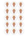 Papel de azúcar escudo Sporting de Gijón para galletas Nº81
