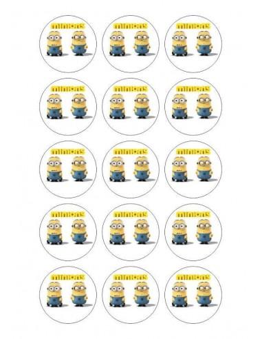 Papel de azúcar Minions para galletas  Nº102