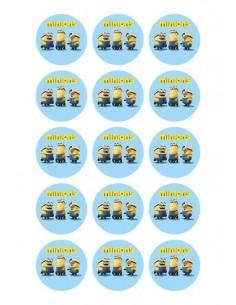 Papel de azúcar Minions para galletas Nº103