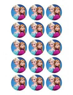 Papel de azúcar Frozen para galletas Nº100