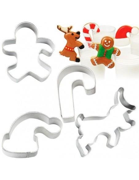 Set 4 cortadores Navidad