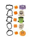 Cortadores Halloween con marcadores de caras