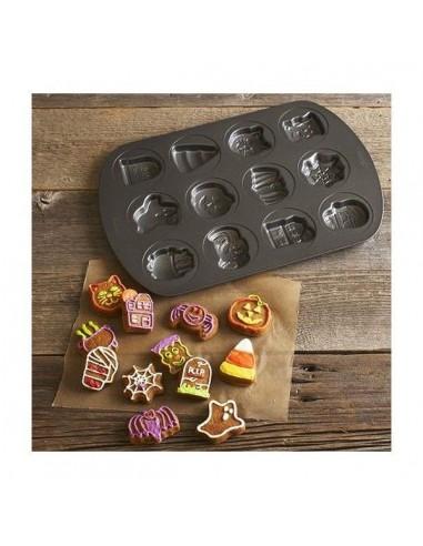 Molde para horno 12 galletas Halloween
