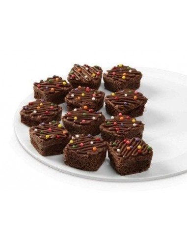 Bandeja horno 12 muffins cuadrados