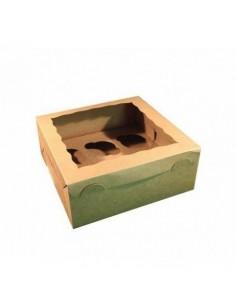 Caja 6 cupcakes Kraft