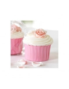 Cápsulas pliegues rosas