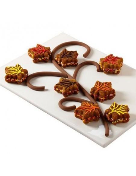 Molde galletas hojas y calabazas