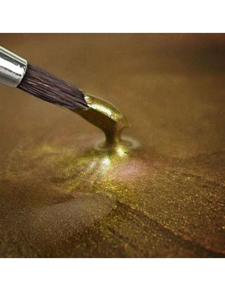 Pintura comestible metalizada dorado suave