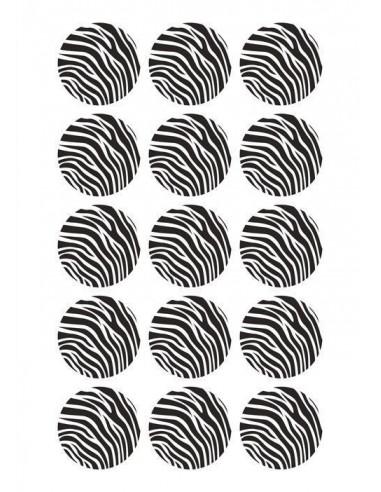 Papel de azúcar cebra para galletas