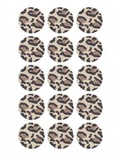 Papel de azúcar leopardo para galletas