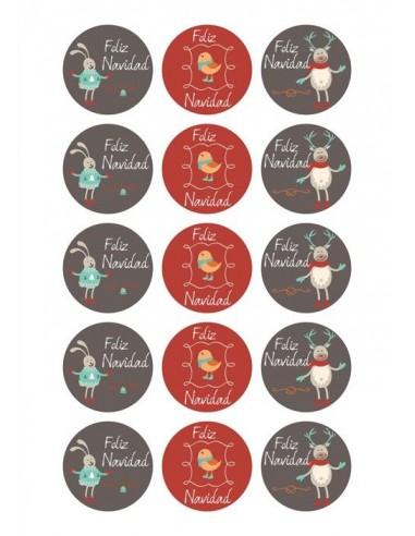 Papel de azúcar Navidad para galletas