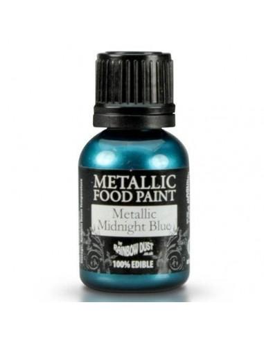 Pintura comestible metalizada azul medianoche