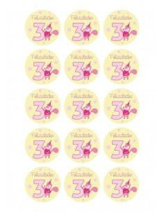 Papel de azúcar cumpleaños