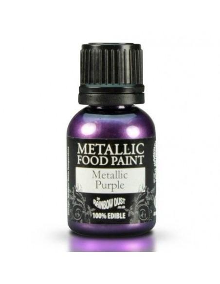 Pintura comestible metalizada purpura