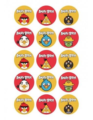Papel de azúcar Angry Birds para galletas