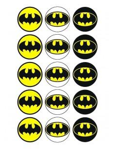 Papel de azúcar logo Batman para galletas