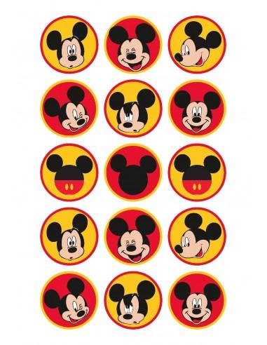 Papel de azúcar Mickey para galletas