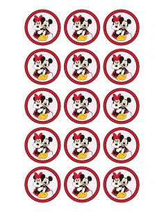 Papel de azúcar Mickey y Minnie Mouse para galletas