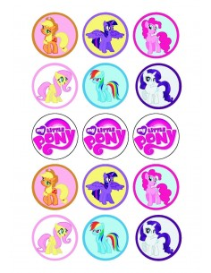 Papel de azúcar My Little Pony para galletas