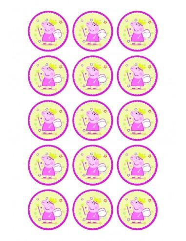 Papel de azúcar Peppa Pig para galletas