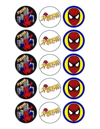 Papel de azúcar Spiderman para galletas