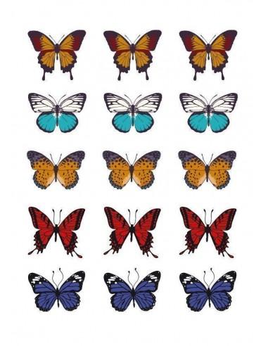 Papel de azúcar mariposas