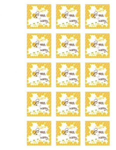 Papel de azúcar Bee Happy para galletas