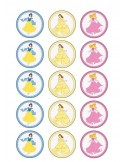 Papel de azúcar princesas Disney para galletas