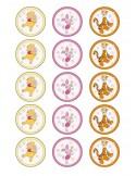 Papel de azúcar Winnie de Pooh para galletas