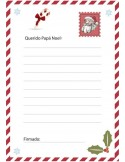 Papel de azúcar carta Papá Noel