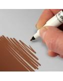 Rotulador alimentario marrón chocolate
