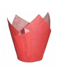 Cápsulas muffins rojas