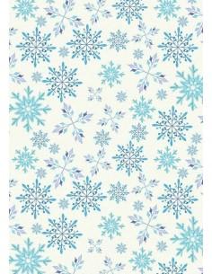 Papel de azúcar copos de nieve