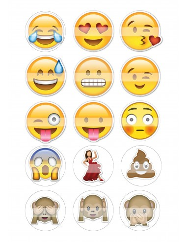 Papel azúcar emoticonos